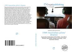 Bookcover of 1989 Australian pilots' dispute
