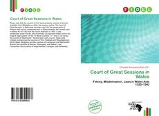Обложка Court of Great Sessions in Wales