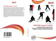 1992 NHL players' strike kitap kapağı