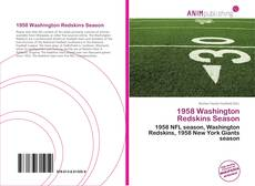 Portada del libro de 1958 Washington Redskins Season