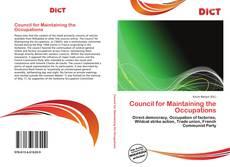 Council for Maintaining the Occupations kitap kapağı