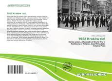 Bookcover of 1923 Kraków riot