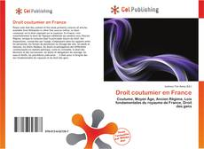 Couverture de Droit coutumier en France