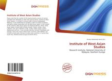 Bookcover of Institute of West Asian Studies