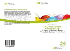 Bookcover of 1972 Five Nations Championship