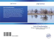 Bookcover of Earl of Southampton