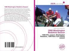 Обложка 1986 Washington Redskins Season