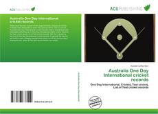 Bookcover of Australia One Day International cricket records
