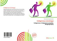 Couverture de Indigenous (ecology)