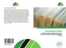 Bookcover of Christopher Ricks