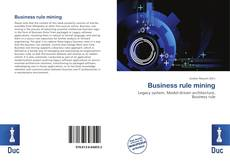 Portada del libro de Business rule mining