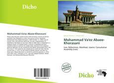 Bookcover of Mohammad Va'ez Abaee-Khorasani