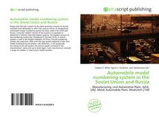 Bookcover of Automobile model numbering system in the Soviet Union and Russia