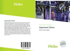 Bookcover of Japanese Citrus