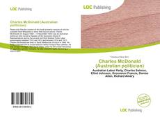 Bookcover of Charles McDonald (Australian politician)