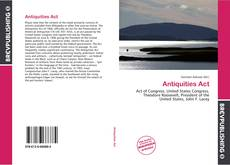 Обложка Antiquities Act