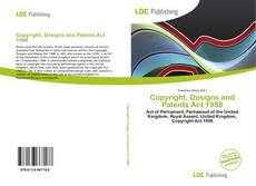 Bookcover of Copyright, Designs and Patents Act 1988