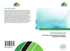 Bookcover of Full Text Search