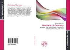 Buchcover von Blockade of Germany