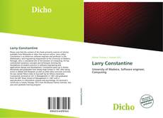 Bookcover of Larry Constantine