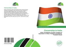 Portada del libro de Censorship in India