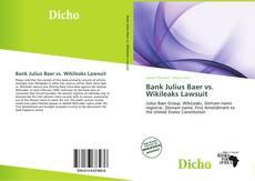 Bookcover of Bank Julius Baer vs. Wikileaks Lawsuit