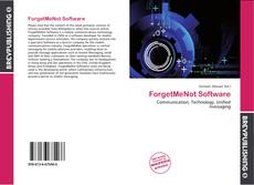 Bookcover of ForgetMeNot Software