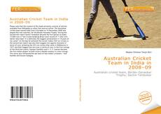 Portada del libro de Australian Cricket Team in India in 2008–09