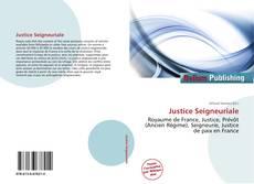 Capa do livro de Justice Seigneuriale