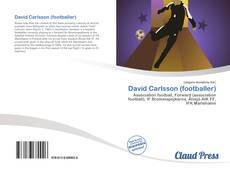 David Carlsson (footballer)的封面