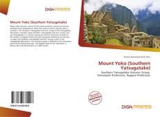 Bookcover of Mount Yoko (Southern Yatsugatake)