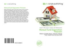 Bookcover of Mutual Fund Separation Theorem