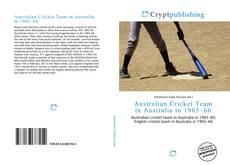 Buchcover von Australian Cricket Team in Australia in 1965–66