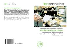 Portada del libro de Administration publique