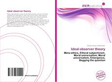 Bookcover of Ideal observer theory