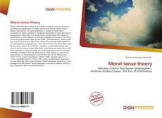 Bookcover of Moral sense theory