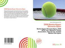Bookcover of 2008 Banka Koper Slovenia Open