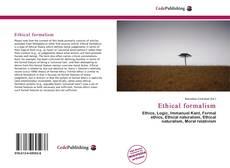 Portada del libro de Ethical formalism