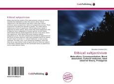 Portada del libro de Ethical subjectivism