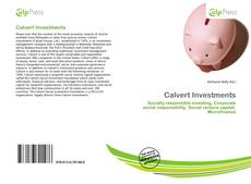 Bookcover of Calvert Investments