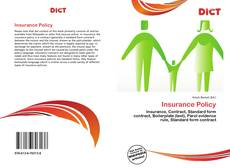 Bookcover of Insurance Policy