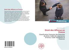 Bookcover of Droit des Affaires en France