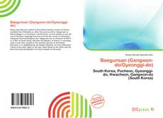 Capa do livro de Baegunsan (Gangwon-do/Gyeonggi-do)