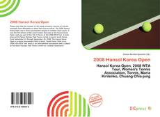 Portada del libro de 2008 Hansol Korea Open