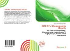 2010 RFL Championship Results的封面