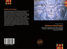 Bookcover of Andreas Maislinger