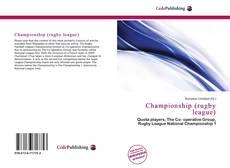 Portada del libro de Championship (rugby league)