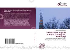 Capa do livro de First African Baptist Church (Lexington, Kentucky)