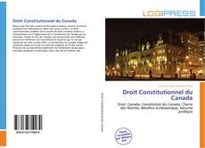 Couverture de Droit Constitutionnel du Canada