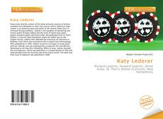 Bookcover of Katy Lederer
